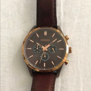 Fossil Men's Rose Gold Stainless Steel Watch
